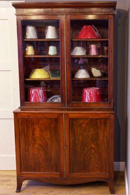 Two Door Bookcase, Regency, Mahogany