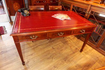 Library Writing Table, Victorian, Mahogany – Bild 1