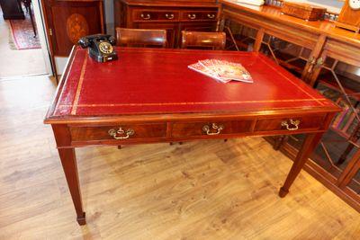Library Writing Table, Victorian, Mahogany – Bild 2