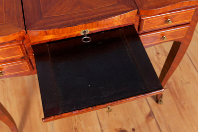 "A very rare ""Poudreuse"", Rosewood, original Louis XVI, France 2nd. Half of the 18th. Century; – Bild 6"