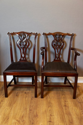 Set of 10 Dining Chair's, Mahogany