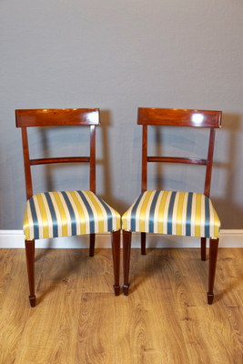 Set of 6 inlaid Chair's in Mahogany, Edwardian