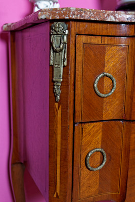 Inlaid Chest of Drawer's in the Louis XV-Style, Rosewood  – Bild 3