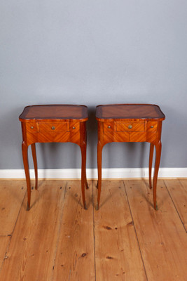 A very rare pair of Occasional Tables in the Louis XV-Stile – Bild 1