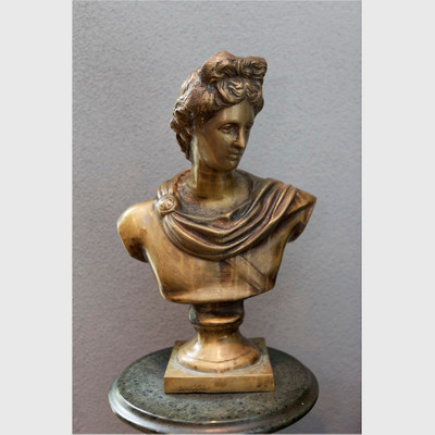 Bronze Bost of Apollo