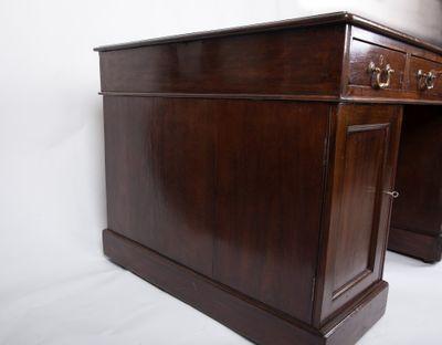 Small Partner´s Desk, Mahogany, Victorian, England ca. 1870 – Bild 6