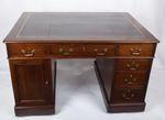Kleiner Partner´s-Schreibtisch aus Mahagoni, Victorian, England um 1870 001