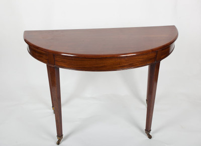 Halfround Hall Table, Mahogany, George III, England ca. 1810 – Bild 1