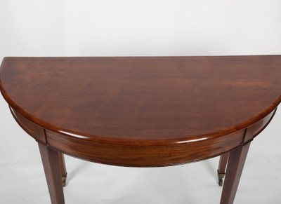 Halfround Hall Table, Mahogany, George III, England ca. 1810 – Bild 2