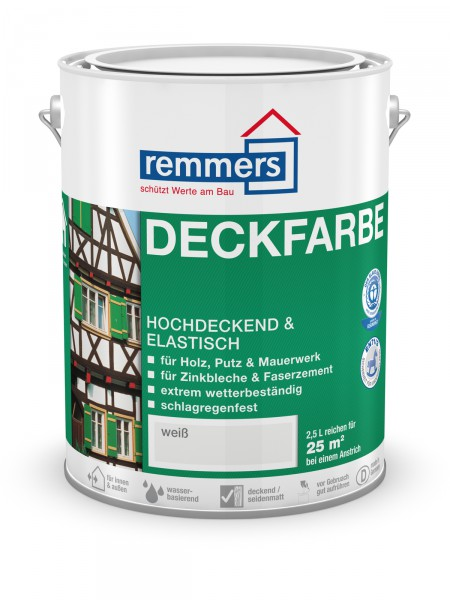 Remmers Aidol Deckfarbe 3600 weiss 750ml (RAL 9016) – Bild 1