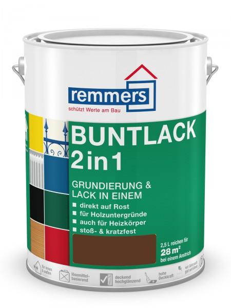 Remmers Buntlack 2 in 1   1385 Nussbraun RAL 8011 0,75l hochglänzend – Bild 1