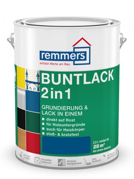 Remmers Buntlack 2 in 1   1321 Enzianblau RAL 5010 0,75l hochglänzend – Bild 1