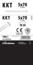 Terrassenschraube KKTM 5,0x70mm Braun 100 Stück/Paket TX20 Kohlenstoffst.+ Bit 001