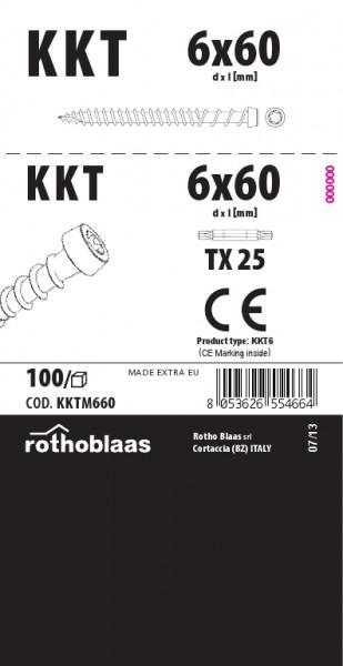 Terrassenschraube KKTM 6,0x60mm Braun 100 Stück/Paket TX25 Kohlenstoffst.+ Bit – Bild 1