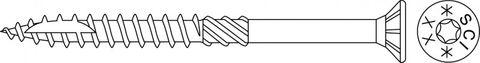Terrassenschraube SCI 4,5x50mm V2A AISI304  200 Stück/Paket + Bit TX25 – Bild 2