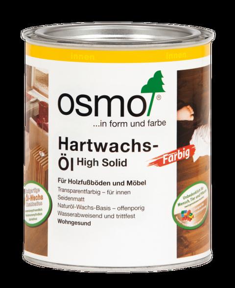 Osmo Hartwachsöl Schwarz 3075 0,75L High Solid seidenmatt – Bild 1