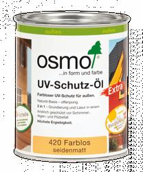 """Osmo UV-Schutz-Öl 420 """"Extra""""      0,75L farblos seidenmatt, NUR für außen mit bioziden Wirkstoffen 001"""