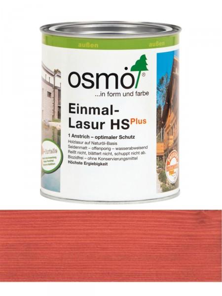 Osmo Einmal-Lasur 9234 Skandinavisch Rot HS Plus, transparent seidenmatt 0,75L   für außen – Bild 1