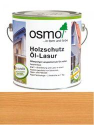 OSMO Holzschutz Öl-Lasur 702 Lärche transparent, seidenmatt 2,5L Nur für außen, enthält Biozide 001
