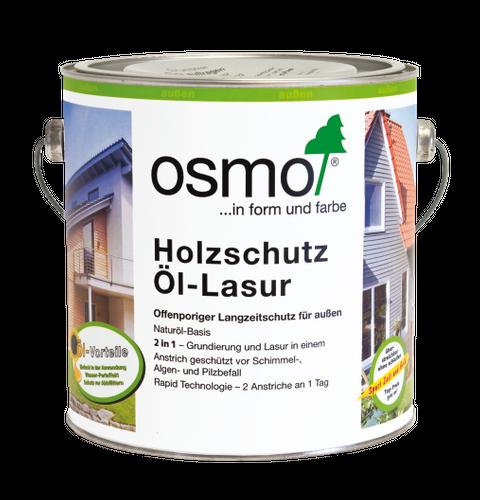 OSMO Holzschutz Öl-Lasur 703 Mahagoni transparent, seidenmatt 0,75L   Nur für außen, enthält Biozide – Bild 2