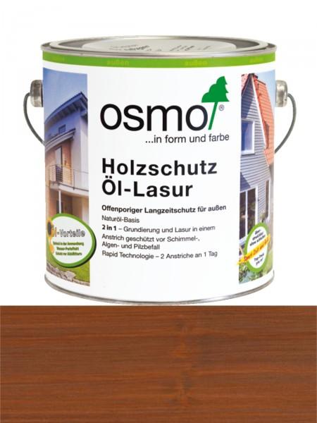 OSMO Holzschutz Öl-Lasur 708 Teak transparent, seidenmatt 0,75L   Nur für außen, enthält Biozide