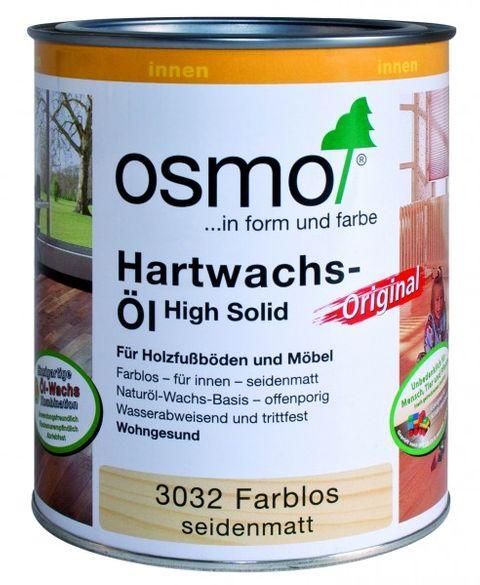 Osmo Hartwachsöl Farblos  3032    0,75L High Solid seidenmatt – Bild 2