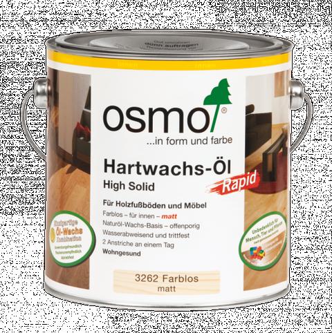 Osmo Hartwachs-Öl Rapid 3262 farblos High Solid, matt                   2,5L Professionell, schnell trocknend – Bild 2