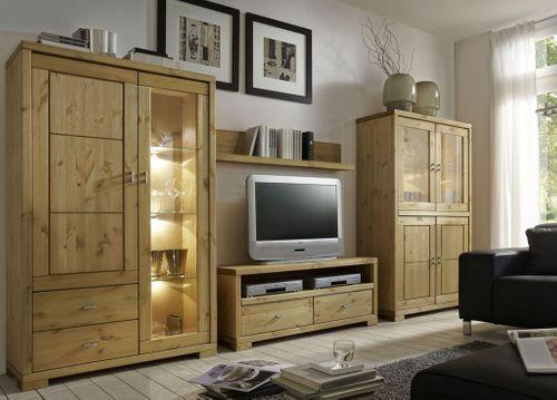 TV-Lowboard 120cm TV-Möbel Vollholz Kiefer massiv gelaugt geölt – Bild 5