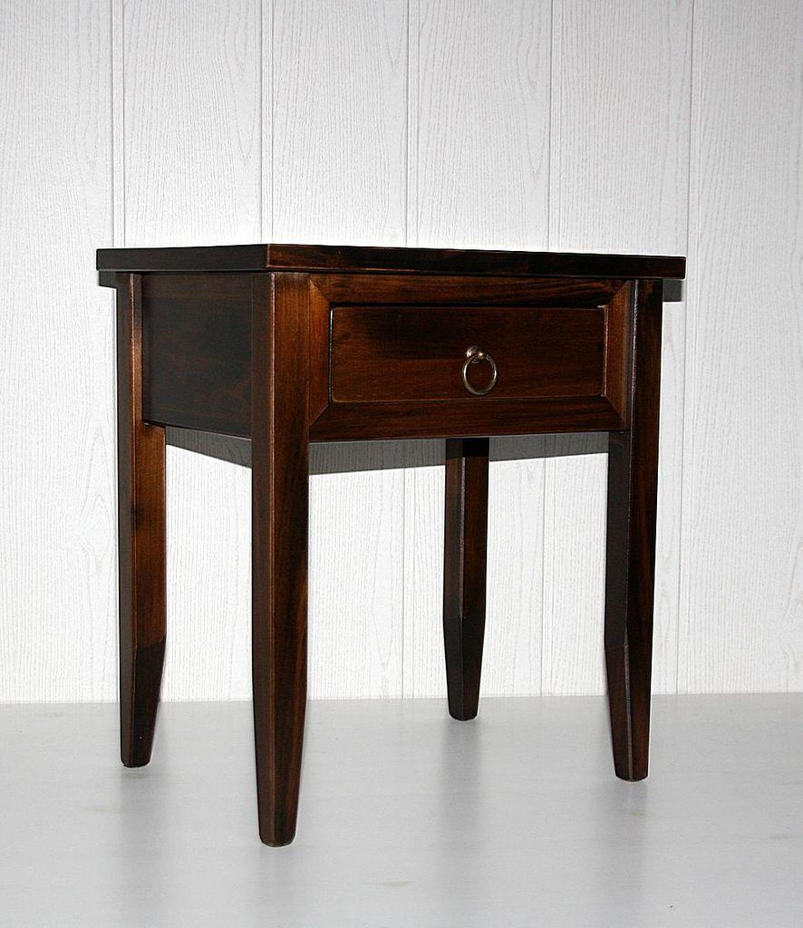 Nachttisch Nachtkommode Beistelltisch Nachtschrank braun nussbaum Farbe – Bild 5