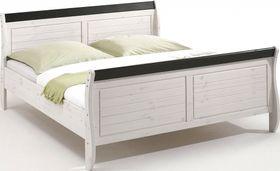 Doppelbett 140x200 Kiefer 2farbig weiß kolonial