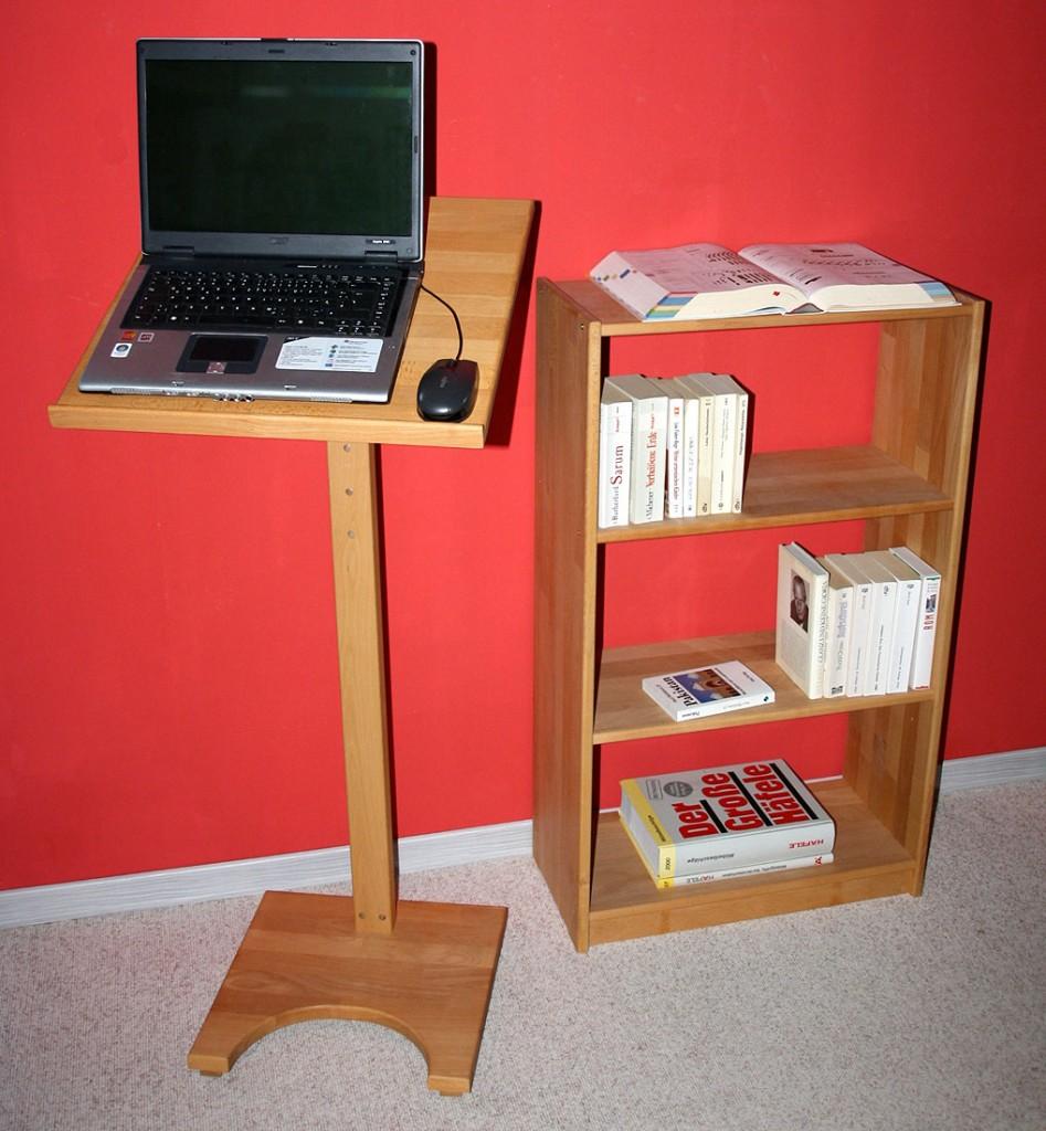 stehpult 50x133x50cm h henverstellbar buche massiv ge lt. Black Bedroom Furniture Sets. Home Design Ideas