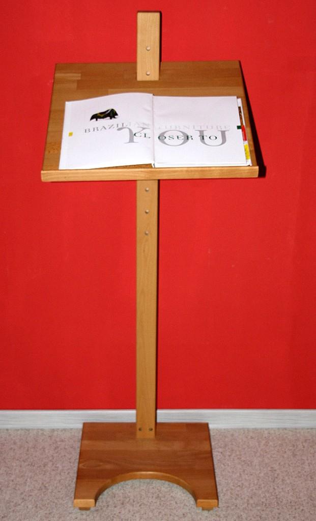 Stehpult Lesepult Rednerpult - Holz massiv Buche geölt – Bild 2