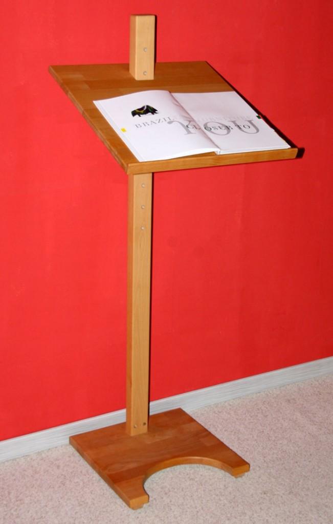 Stehpult Lesepult Rednerpult - Holz massiv Buche geölt – Bild 5