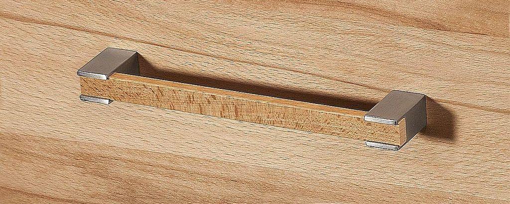 Massivholz Highboard Kernbuche geölt Wohnzimmerschrank 2türig Kommode – Bild 2