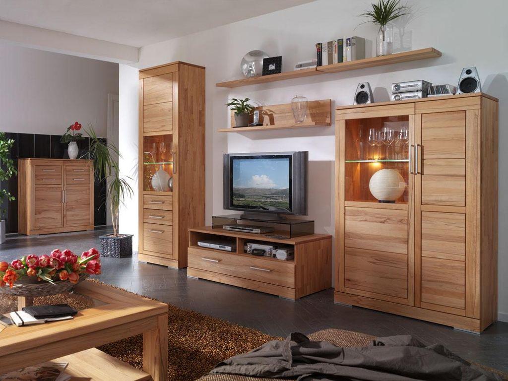 Massivholz TV-Lowboard Kernbuche Hifi-Tisch massiv natürlich geölt – Bild 9
