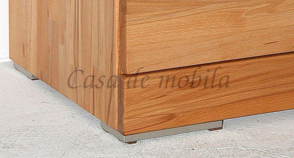 Massivholz TV Lowboard Kernbuche 120x47x60cm 2türig massiv geölt Hifi-Tisch – Bild 9