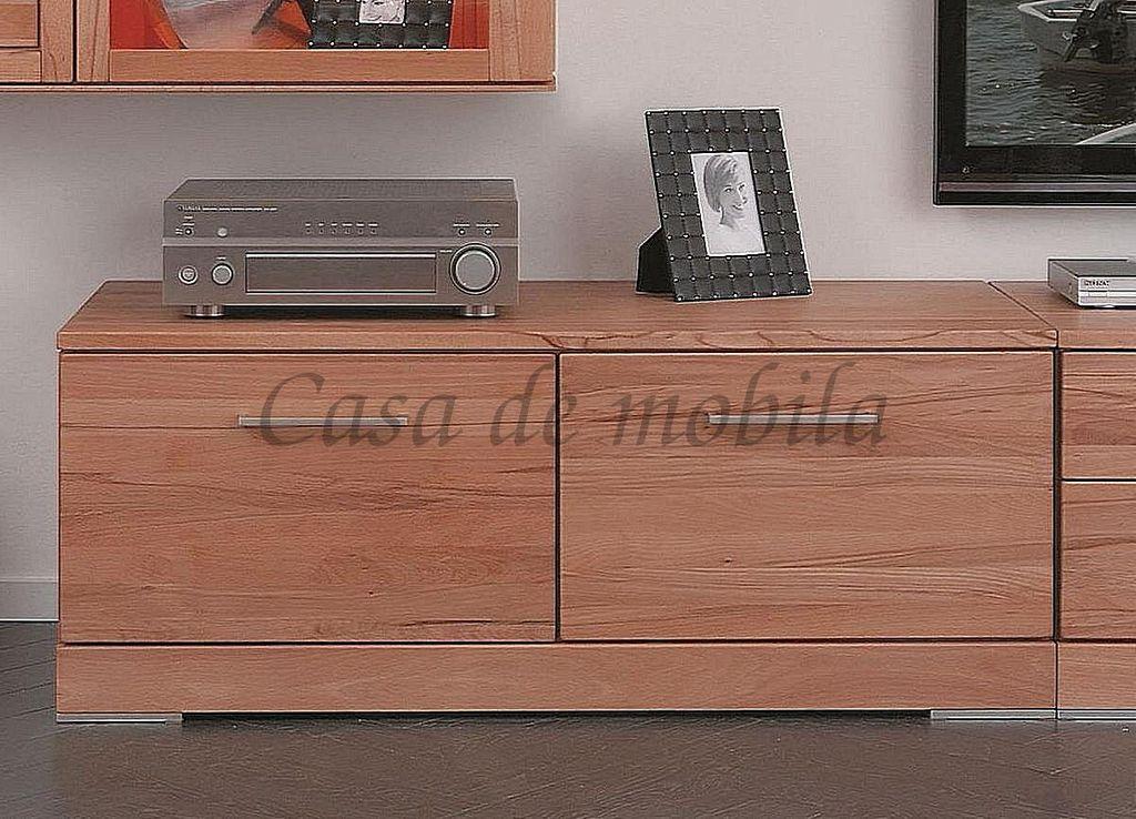 tv lowboard 120x47x60cm 2 t ren rotkernbuche massiv ge lt. Black Bedroom Furniture Sets. Home Design Ideas
