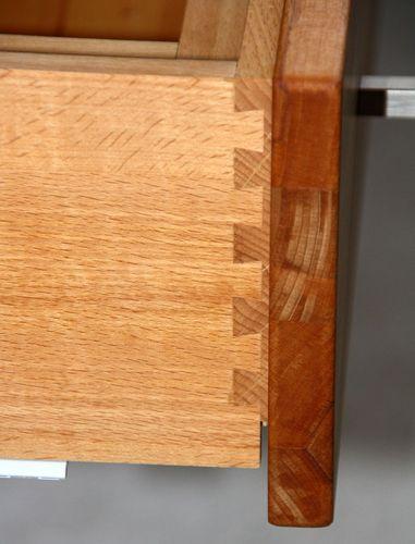 Massivholz TV Lowboard Kernbuche 120x47x60cm 2türig massiv geölt Hifi-Tisch – Bild 6