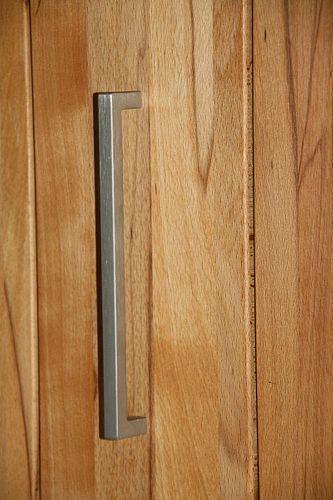 Massivholz Vitrinenschrank links Esszimmerschrank 2türig Mehrzweckschrank massiv Kernbuche geölt – Bild 6