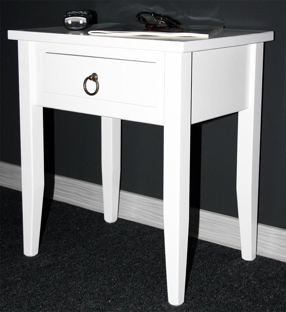 Nachttisch Nachtkommode Beistelltisch Nachtschrank weiß – Bild 13
