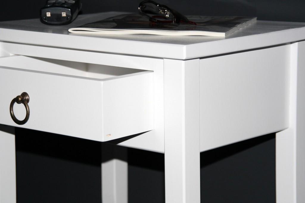 Nachttisch Nachtkommode Beistelltisch Nachtschrank weiß – Bild 9