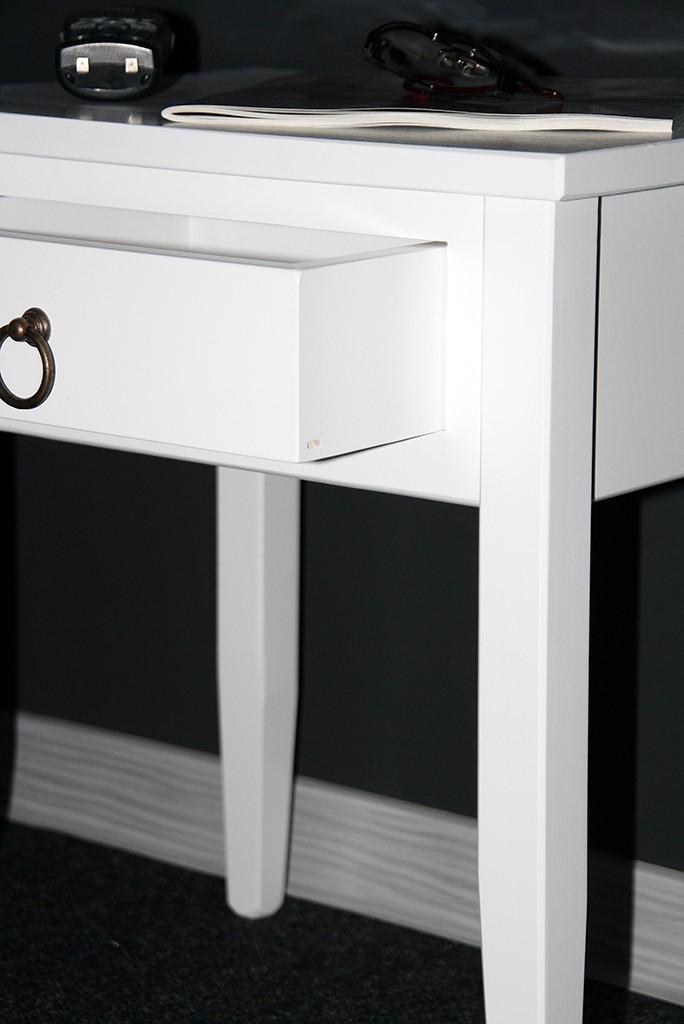 Nachttisch Nachtkommode Beistelltisch Nachtschrank weiß – Bild 8