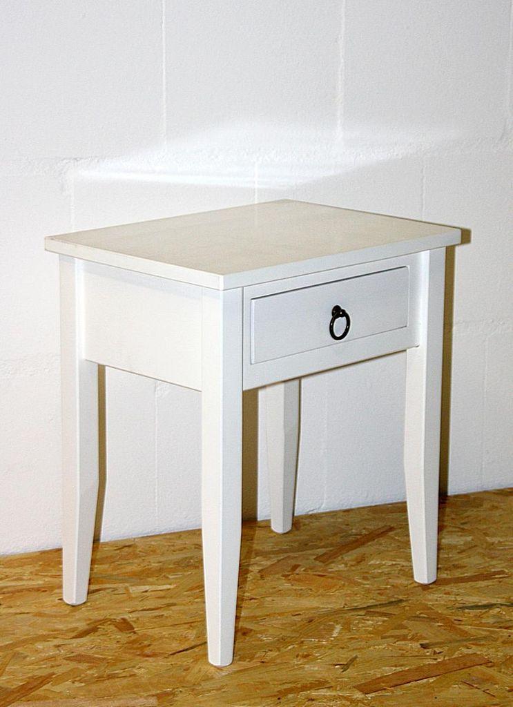 Nachttisch Nachtkommode Beistelltisch Nachtschrank weiß – Bild 6