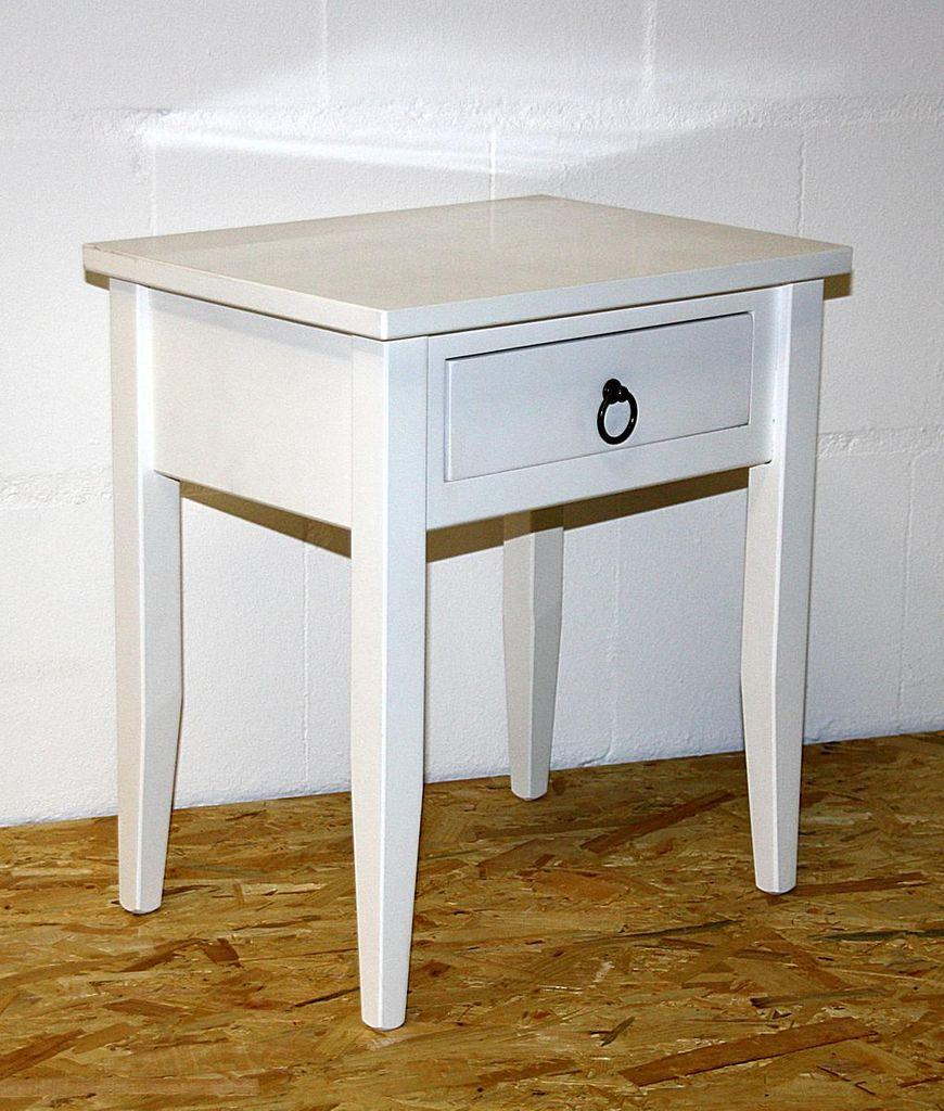 Nachttisch Nachtkommode Beistelltisch Nachtschrank weiß – Bild 7
