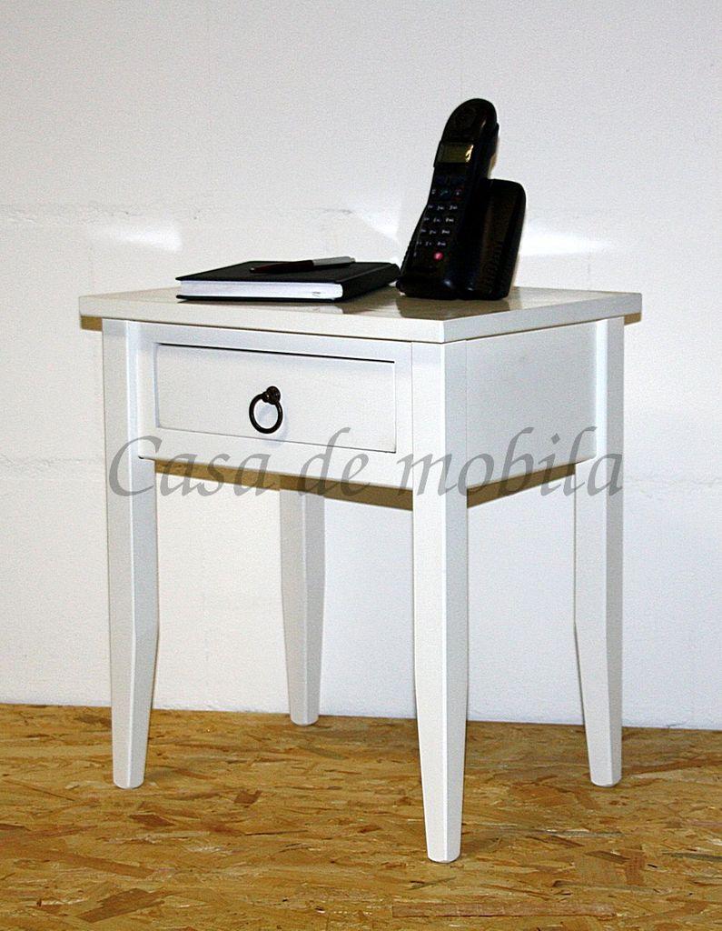 Nachttisch Nachtkommode Beistelltisch Nachtschrank weiß – Bild 19