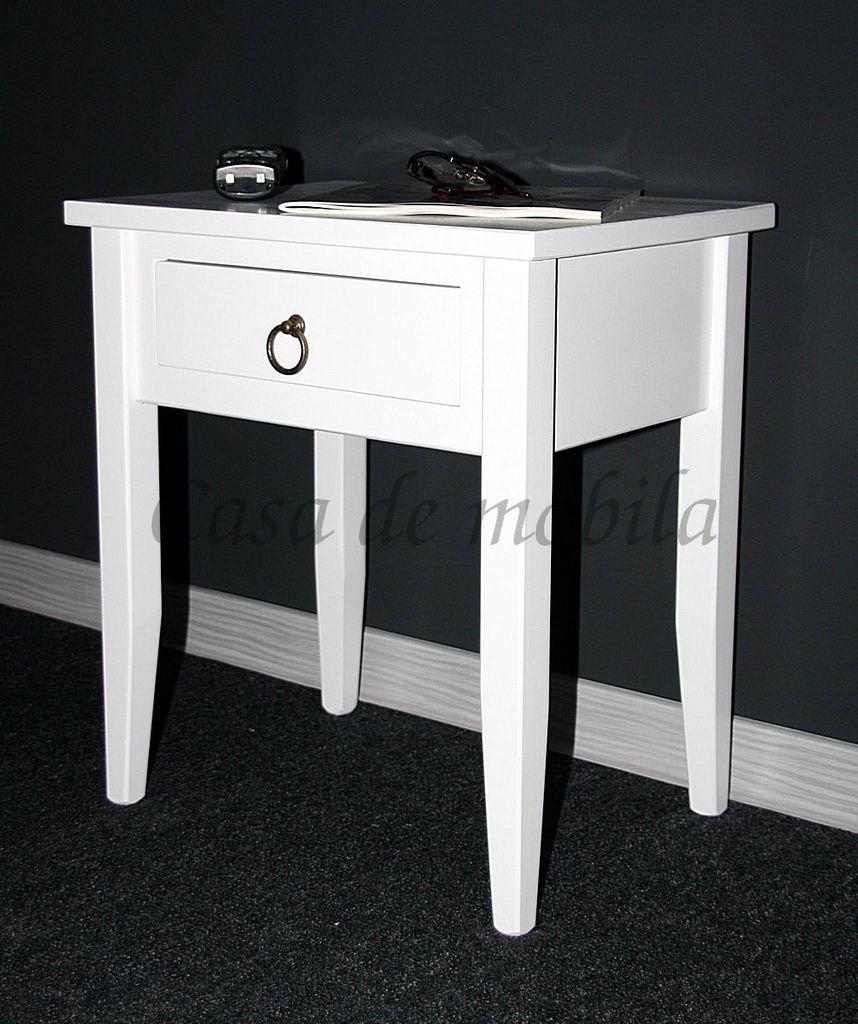 Nachttisch Nachtkommode Beistelltisch Nachtschrank weiß – Bild 18