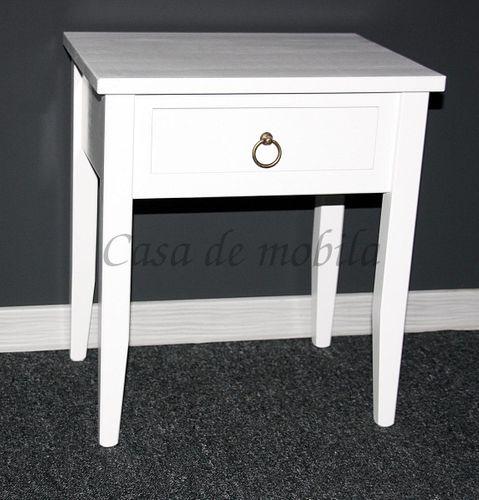 Nachttisch Nachtkommode Beistelltisch Nachtschrank weiß – Bild 14