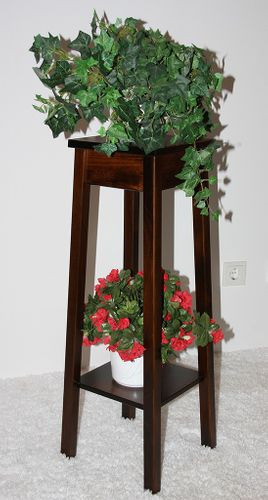 Blumentisch Blumenhocker Blumenständer 80 Vollholz massiv braun nussbaum Farbe – Bild 1