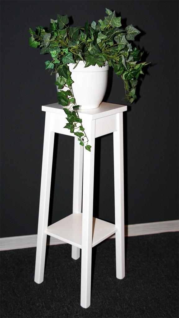 Blumentisch Blumenhocker Blumenständer 80 - Holz massiv weiß – Bild 1