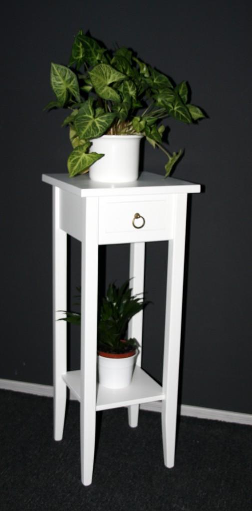 Beistelltisch weiß Telefontisch Blumentisch Blumenhocker 80 - Holz massiv – Bild 8